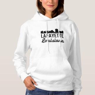 Lafayette Louisiana Skyline Hoodie