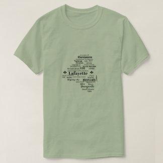 Lafayette Parish Louisiana Cities & Streets Shirt