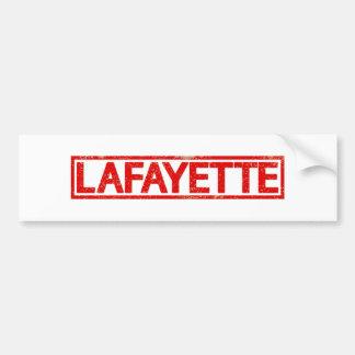 Lafayette Stamp Car Bumper Sticker