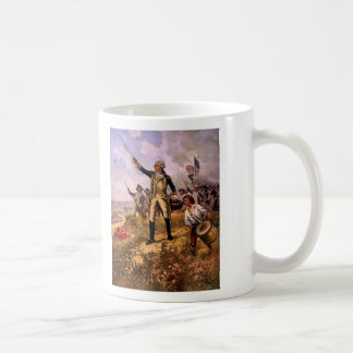 Lafayette's Baptism of Fire by E. Percy Moran Classic White Coffee Mug