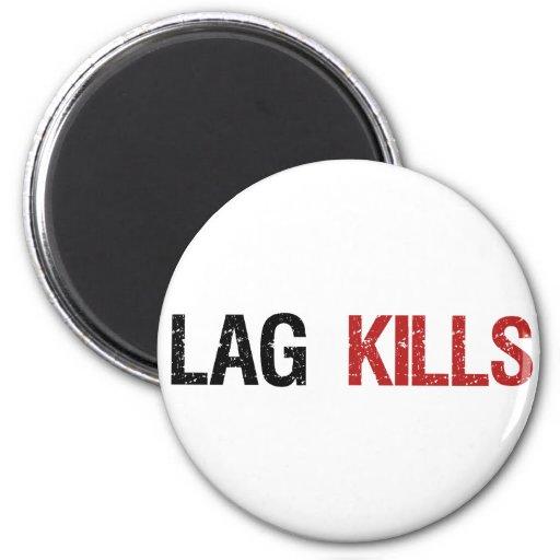 Lag Kills Gamers 6 Cm Round Magnet