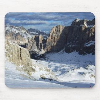 Lagazuoi Mountain Snow Mouse Pad