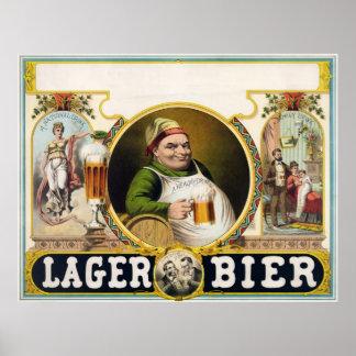 Lager bier poster