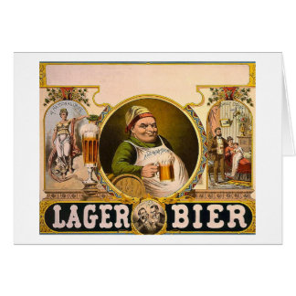 Lager Bier - The Healthy Drink! Vintage Ad Card