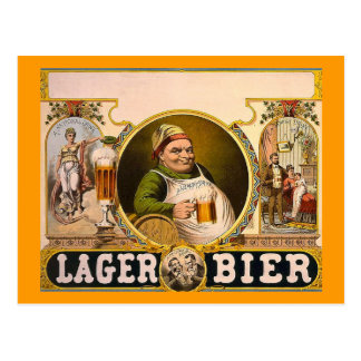 Lager Bier - The Healthy Drink! Vintage Ad Postcard