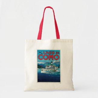 Lago di Como Vintage Italian Travel Poster Budget Tote Bag