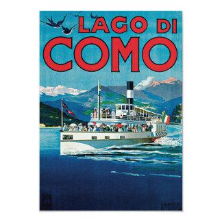 Lago Di Como Vintage Travel Poster Invites