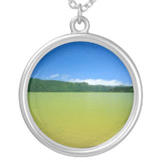 Lagoa das Furnas - Açores Round Pendant Necklace