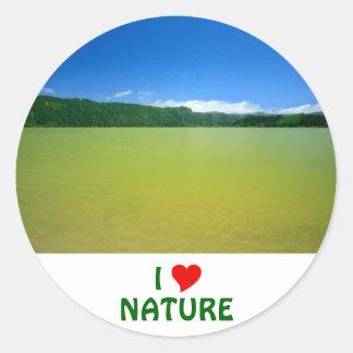Lagoa das Furnas - Açores Round Sticker