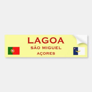 Lagoa Sao Miguel Bumper Sticker