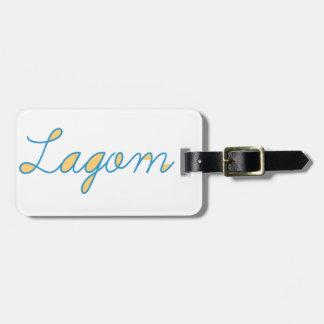 Lagom Sweden Luggage Tag