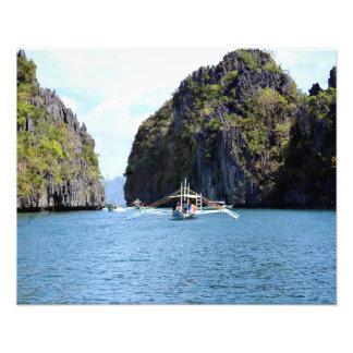"""Lagoon at El Nido Palawan 20""""X16"""" Photo Print"""