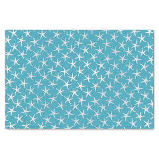 Lagoon Blue Starfish Pattern Tissue Paper