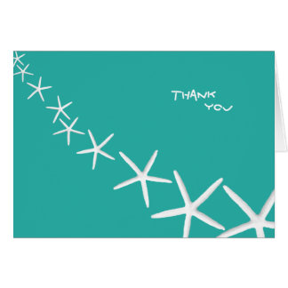 Lagoon Blue Starfish Personal Thank You Notes