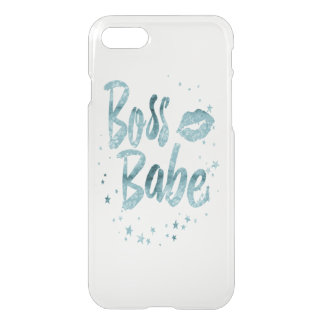 Lagoon Blue Watercolor Boss Babe Boho Sassy iPhone 7 Case