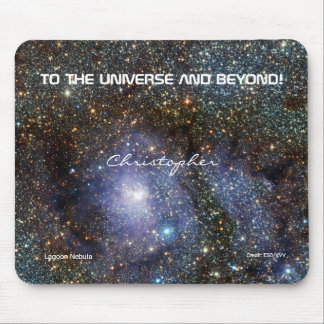 Lagoon nebula custom name astronomy mouse pad