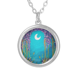 Lagoon Silver Plated Necklace
