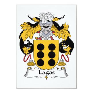 Lagos Family Crest Personalized Invites