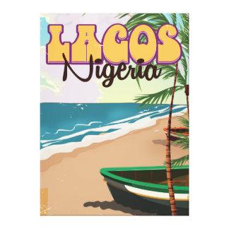 Lagos, Nigeria vintage travel poster Canvas Print