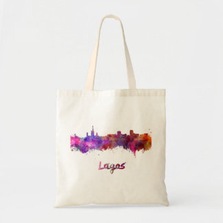 Lagos skyline in watercolor tote bag