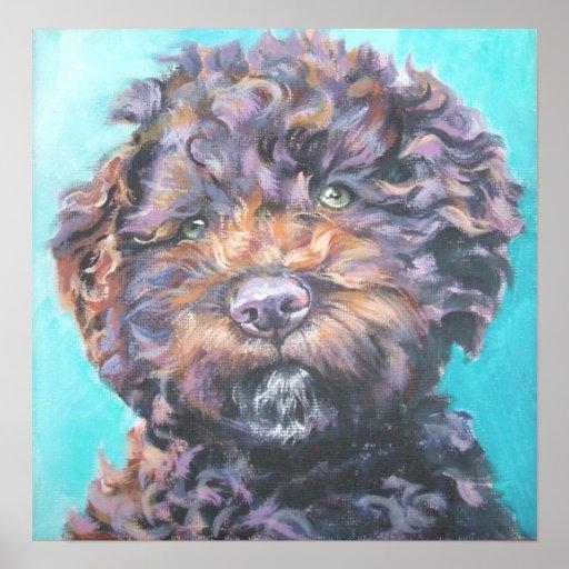 lagotto romagnolo puppy art print