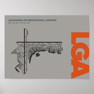 LaGuardia Airport (LGA) Diagram Poster