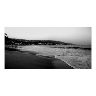 Laguna Beach B&W Poster