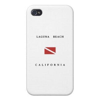 Laguna Beach California Scuba Dive Flag iPhone 4/4S Case