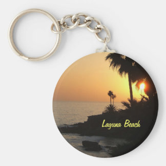 Laguna Beach ocean sunset keychain