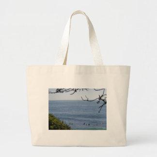 laguna beach surf large tote bag