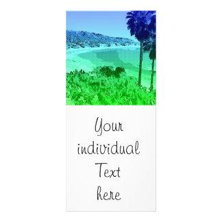 Laguna Beach, toony green Personalized Rack Card