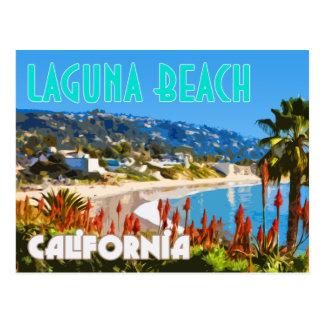 Laguna Beach Vintage Travel Poster Postcard