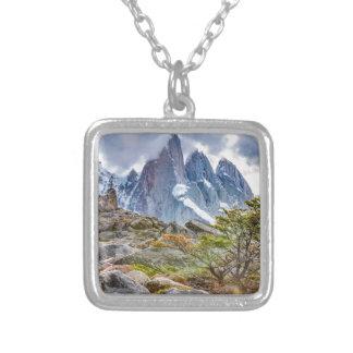 Laguna Torre El Chalten Argentina Silver Plated Necklace