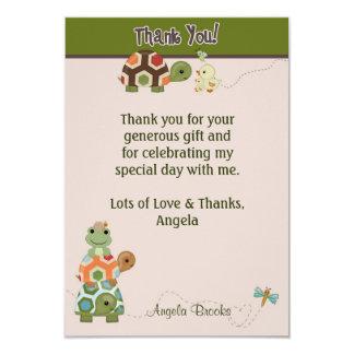 Laguna TURTLE Baby Shower Thank You (FLAT style) Card