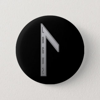 Laguz Rune grey 6 Cm Round Badge