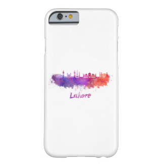 Lahore skyline in watercolor barely there iPhone 6 case