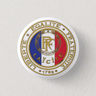 laic French swipes in 3 Cm Round Badge
