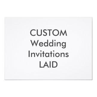 """LAID 100lb 7"""" x 5"""" Wedding Invitations"""