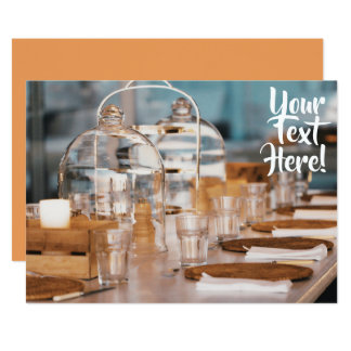 Laid Dinner Table Multi Purpose Text Invitation