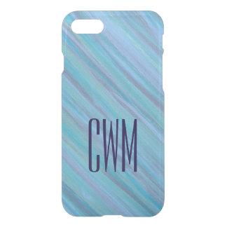 Laidback Tech | Monogram Turquoise Aqua Blue | iPhone 8/7 Case
