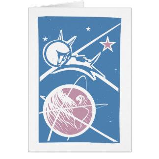 Laika over Earth Card