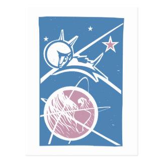 Laika over Earth Postcard