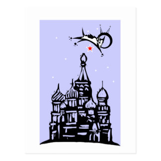 Laika over Red Square Postcard