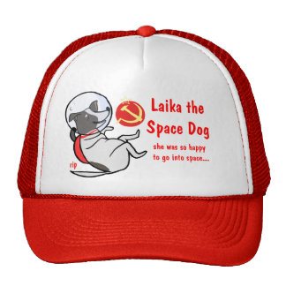laika the space dog cap