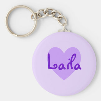 Laila in Purple Key Ring