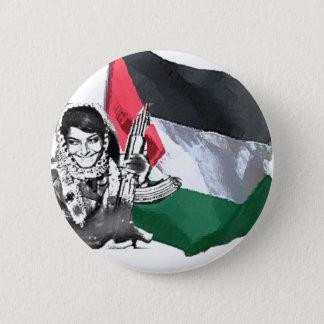 Laila Khaled 6 Cm Round Badge