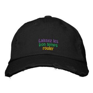 Laissez les bon temps rouler embroidered baseball cap