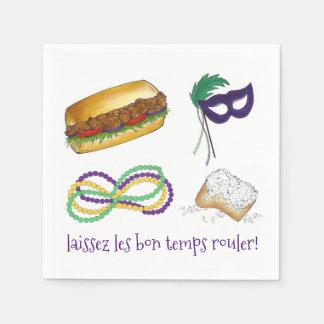 Laissez Les Bon Temps Rouler Mardi Gras Napkin Disposable Napkins