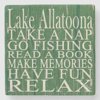 Lake Allatoona, Green, Georgia, Marble Coasters. Stone Coaster