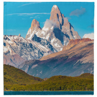 Lake and Andes Mountains, Patagonia - Argentina Napkin